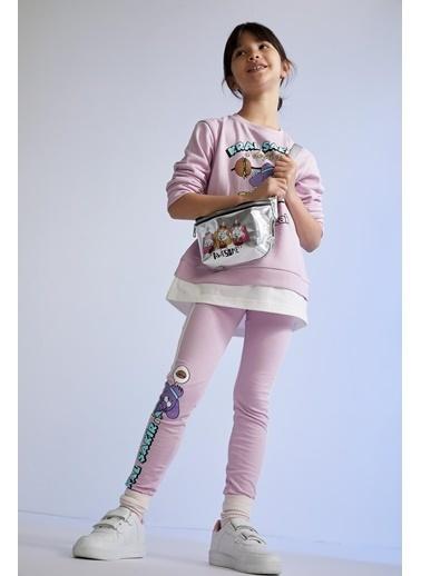 DeFacto Kız Çocuk Kral Şakir Lisanslı Sweatshirt Mor